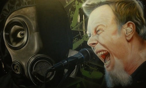 "Stickman ""I'm Your Source of Self Destruction"" (James Hetfield - Metallica) Limited Edition Canvas Giclee"