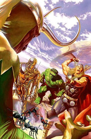 "Art Center Gallery Alex Ross Art "" AVENGERS #1 VARIANT "" S/N edition Canvas giclees:  20"" x 30"" Edition of 100 Canvas Giclee"