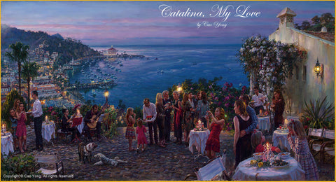 "Cao Yong CAO YONG ""Catalina, my love"" LIMITED EDITION H/E CANVAS 14"" by 26"" Paintings"