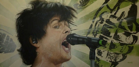 "Stickman ""Everybody Do the Propaganda"" (Green Day Billie Joe Armstrong) Limited Edition Canvas Giclee"