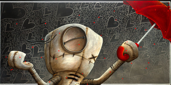 "Fabio Napoleoni ""Shower me with Love & Kisses ""  Ltd SN Canvas 12"" X 24""  Ed of 156"