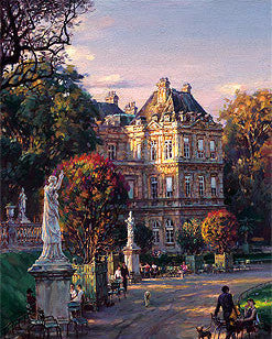 "Cao Yong CAO YONG ""The Luxembourg Garden I: Medicis's Palace"" Limited Edition H/E CANVAS 24"" by 18"" Paintings"