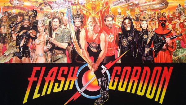 "Alex Ross Art ""FLASH GORDON, MAGNIFICENT 7 "" A/P Canvas Giclee 24"" x 38"" Edition of 7"