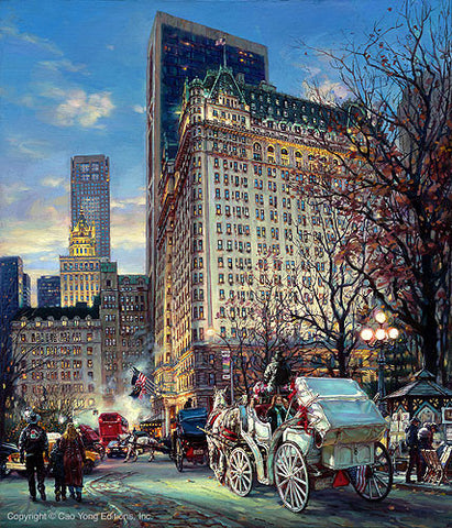 "Cao Yong CAO YONG ""The Heartbeat of NY"" LIMITED EDITION H/E CANVAS 24"" by 30"" Paintings"