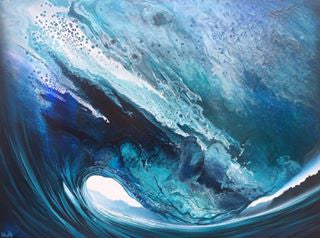 "Ashton Howard Ashton Howard "" Wild-Blue-Sea "" Size : 30"" by 40"" -  Original Canvas Original"