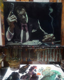 "Gabe Leonard ""Smoking Gun""- Size 24"" X 36 ""-ORIGINAL OIL ON CANVAS"