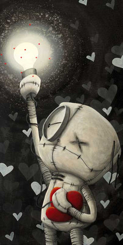 "Fabio Napoleoni ""Never Dark When You Hold Onto Hope"" Limited Edition Canvas Giclee"