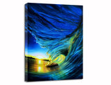 "Ashton Howard Ashton Howard ""Stained Blue Glass"" Size : 12"" by 16"" - Limited SN ""295"" Edition Giclee Canvas Canvas Giclee"
