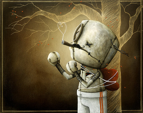 "Fabio Napoleoni ""Only a fool would Try ""  Limited SN Canvas -11"" X  14""  Edition of 216"