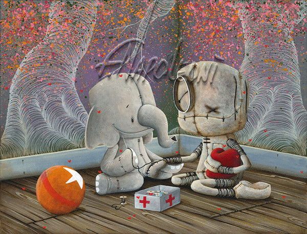"Fabio Napoleoni ""That's What Friends are For"" Limited Edition Paper Giclee"