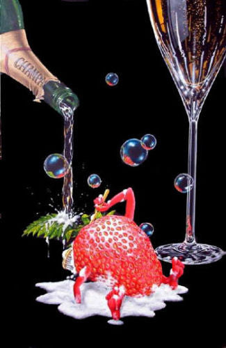 "Michael Godard ""Bubbly Bath"" Limited Edition Canvas Giclee"