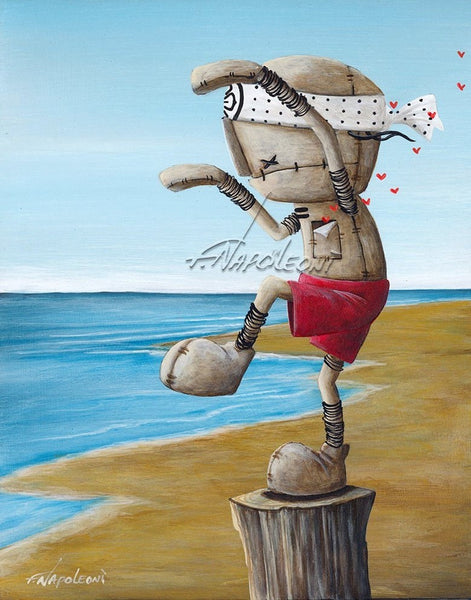 "Fabio Napoleoni ""The Best Around""  Signed Paper Edition 10"" by 12"" Till Sept 4th."