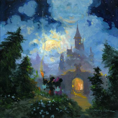 "James Coleman Disney ""Adventure to the Castle Gates"" Limited Edition Canvas Giclee"