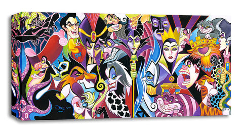 "Tim Rogerson Disney ""All Their Wicked Ways"" Limited Edition Canvas Giclee"
