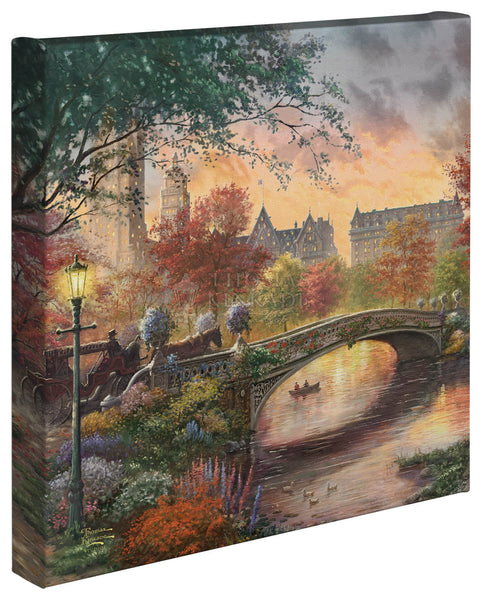 "Thomas Kinkade Studios ""Autumn in New York"" Limited and Open Canvas Giclee"