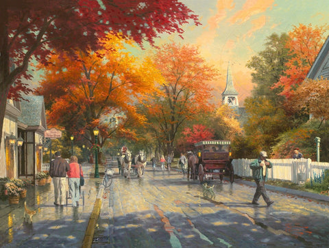 "Thomas Kinkade ""Autumn on Mackinac Island"" Limited Edition Canvas Giclee"