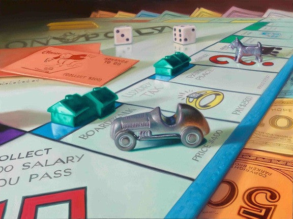 "Doug Bloodworth - ""Monopoly"" Giclee canvas  limited 18 by 24 Canvas Giclee Edition 180 - Art Center Gallery"