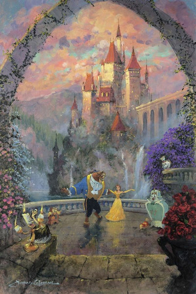 "James Coleman Disney ""Beast and Belle Forever"" Limited Edition Canvas Giclee"