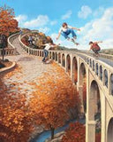 "Rob Gonsalves Rob Gonsalves "" Big Air "" Giclée on Paper 8 ½ x 10 1/2"""" Limited 300 Canvas & Paper Giclees & Prints"