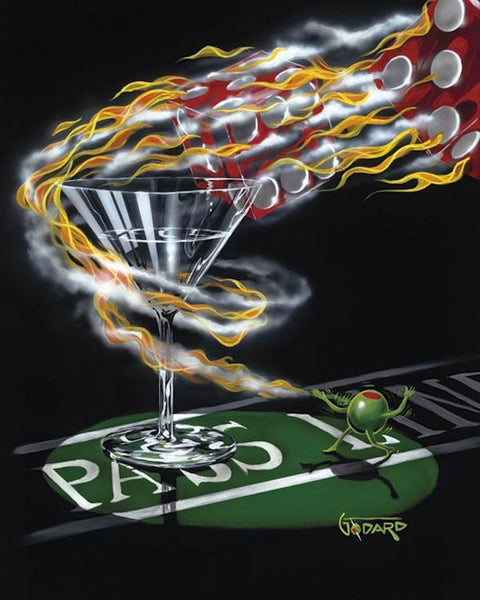 "Michael Godard ""Burning It Up"" Limited Edition Canvas Giclee"