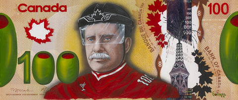 "Michael Godard ""$100 Bill Canada on Ice"" Limited Edition Canvas Giclee"