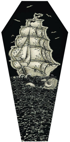 "Dwight Francis ""Coffin Seas"" Coffin Shaped Canvas"