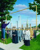 "Rob Gonsalves Rob Gonsalves ""Community Protrait"" Giclée on Paper  6 x 7 1/2"""" Limited 395 Paper and Canvas Giclee"