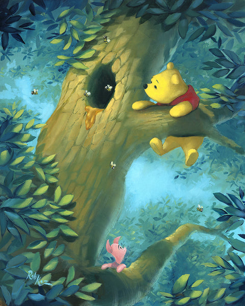 "Rob Kaz Disney ""Curious Bear"" Limited Edition Canvas Giclee"