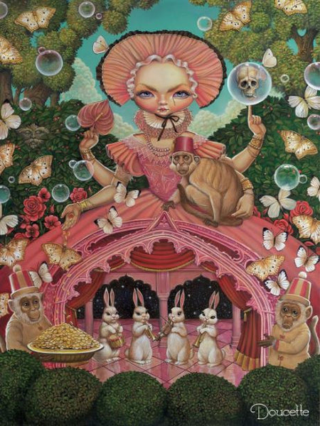 "Bob Doucette ""Et in Arcadia Ego"" - Limited Edition of 100- 26.5"" by 36""- Canvas Giclee Prints Limited Edition Canvas Giclee"