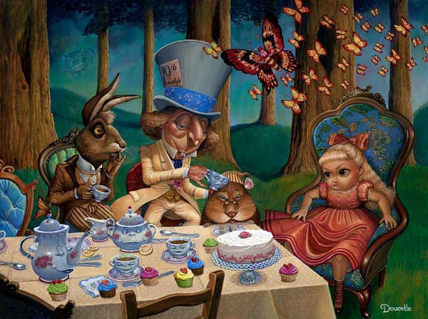 "Bob Doucette ""Mad Tea Party"" - 18x24 Canvas Giclee - Edition #100 Limited Edition Canvas Giclee"