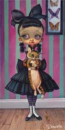 "Bob Doucette-""Scary Mary"" - Edition of 500- 7"" by 14""- Canvas Giclee Print - Art Center Gallery"