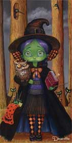 "Bob Doucette-""Witch "" - Limited edition 500 - 7"" by 14""- Canvas Giclee Print - Art Center Gallery"