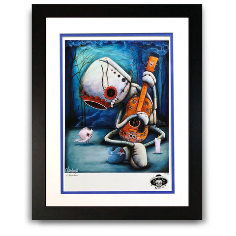 "Fabio Napoleoni ""Day of the Dead"" Playing on my Heartstrings Remix Limited Edition Paper Giclee"