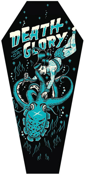 "Adi ""Death or Glory"" Coffin Shaped Canvas"