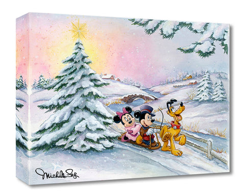 "Michelle St. Laurent Disney ""Winter Sleigh Ride"" Limited Edition Canvas Giclee"