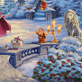 "Thomas Kinkade Studios ""Beauty and the Beast's Winter Enchantment"" Limited Edition Canvas Giclee"