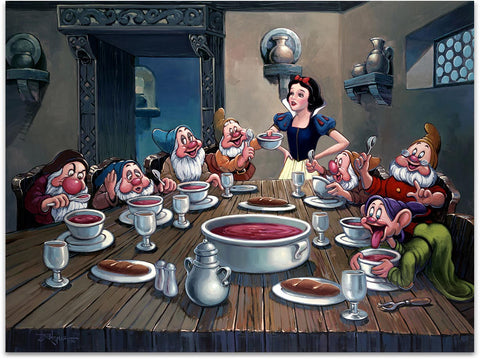 "Rodel Gonzalez Disney ""Soup for Seven"" Limited Edition Canvas Giclee"
