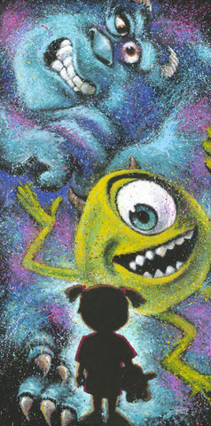 "Stephen Fishwick Disney ""Closet Full of Monsters"" Limited Edition Canvas Giclee"