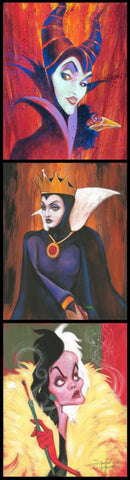 "Stephen Fishwick Disney ""Queens of Madness"" Limited Edition Canvas Giclee"