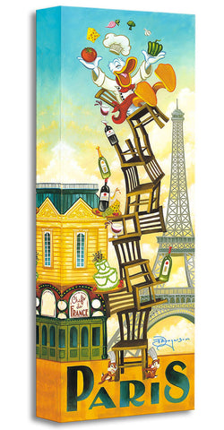 "Tim Rogerson Disney ""Donald's Paris"" Limited Edition Canvas Giclee"