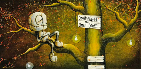 "Fabio Napoleoni ""Don't Sweat the Small Stuff"" Open Edition Paper Giclee"