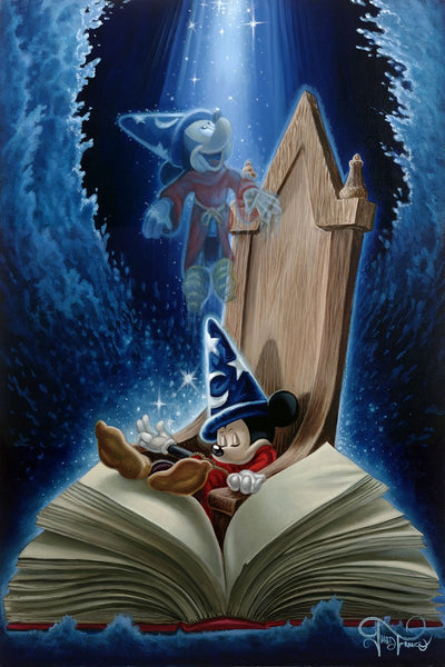 "Jared Franco Disney ""Dreaming of Sorcery"" Limited Edition Canvas Giclee"