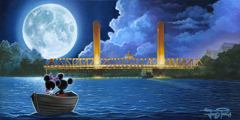 "Jared Franco Disney ""Drifting in the Moonlight"" Limited Edition Canvas Giclee"