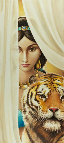 "Edson Campos Disney ""The Sultan's Daughter"" Limited Edition Canvas Giclee"
