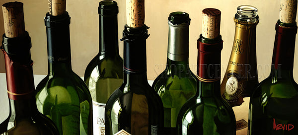 "Thomas Arvid ""Eight Empties"" Limited Edition Canvas Giclee"