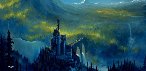 "Rob Kaz Disney ""Enchanted Castle"" Limited Edition Canvas Giclee"