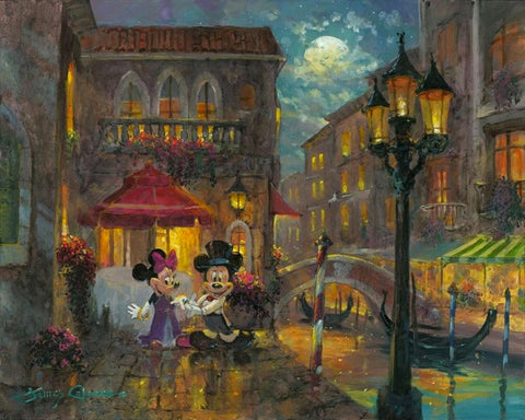 "James Coleman Disney ""Evening Anniversary"" Limited Edition Canvas Giclee"