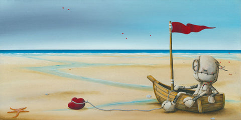"Fabio Napoleoni ""Patiently Awaiting""  Limited SN Canvas -12"" X  24""  Edition of 156"