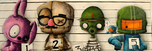 "Fabio Napoleoni-"" The Usual Suspects "" - Limited Edition SN 12"" by 36""- Paper Giclee Print. - Art Center Gallery"
