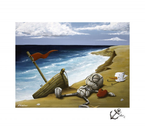 "Fabio Napoleoni- ""Rest my Love upon your shores"" - Limited Edition SN 131 - 16"" by 20""-  Paper Giclee - Art Center Gallery"